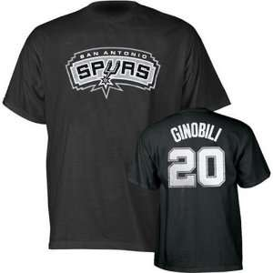 Manu Ginobili San Antonio Spurs Jersey Name and Number T shirt