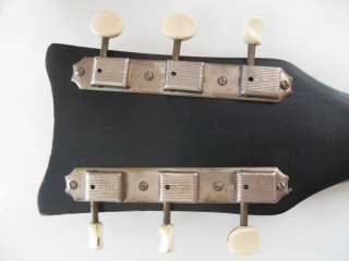 Vintage 1950s Kay Sizzler Black Sparkle Electric Guitar Silvertone
