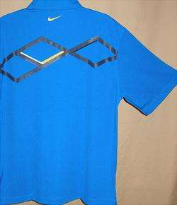 Nike Golf Dri Fit short sleeve arygle graphic polo Lg(484)