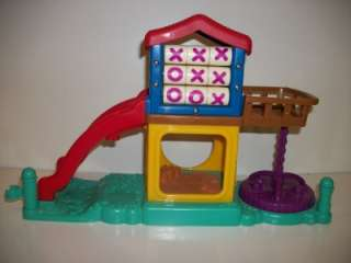 Fisher Price Little People School House Play Ground Fort w/ Slide Tic