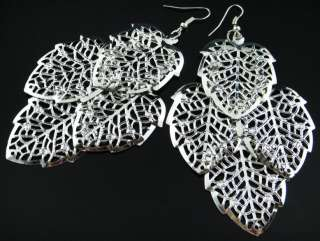 Wholesale Lots Fashion 45 Pairs Mix Style Silver Tone Earrings Z120517