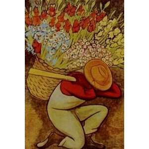 Diego Rivera Art Reproduction Oil Painting   El Vendedor De Flores