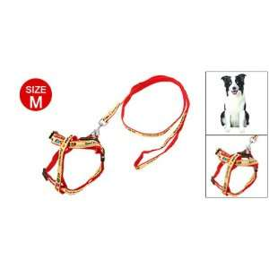 Como Red Doggie Dog Puppy Pet Nylon Pulling Harness Leash