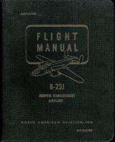 25 J Mitchell Flight Manual North American Aviation WWII Pilot