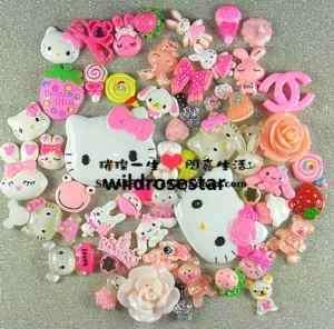 Deco Den 50 pcs iphone craft Hello Kitty Animal 0519