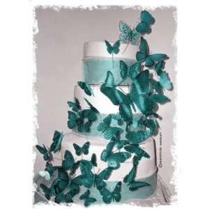 3D Butterfly Wedding Cake Topper Set Multi Sized (36x Butterflies) ANY