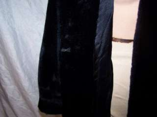 1970s Black Faux Fur Coat Coats Jacket Dress Accessories Clothing