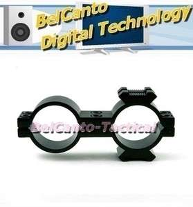 + 25mm Double Ring Mount with Rail for Rifle Scope Flashlight Laser