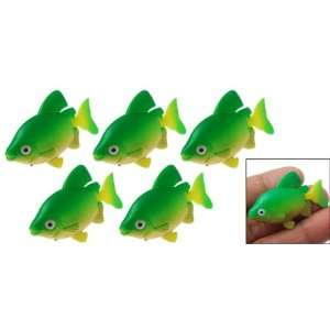 Decorative Aquarium Tank Plastic Floating Fish Set of 5 Pet Supplies