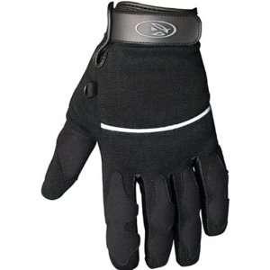 Main Street Mens Short On Road Motorcycle Gloves   Black / Large