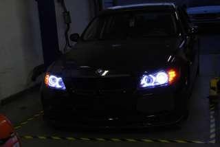 DEPO 09 11 BMW E90/E91 LCI LED ANGEL HALO PROJECTOR HEADLIGHT +LED