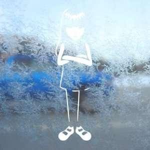 EMILY STRANGE GIRL White Decal Car Window Laptop White