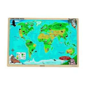 Layered World Map Jigsaw Puzzle 32pc Toys & Games