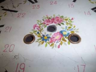 Antique Round Dial Hand Painted With Military Time