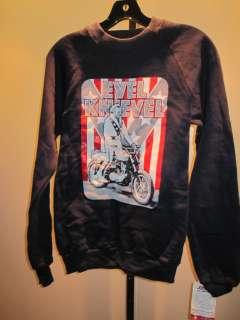 NOS ViNTAGE 70S EVEL KNiEVEL RETRO USA SWEATSHiRT MOTORCYCLE DAREDEViL