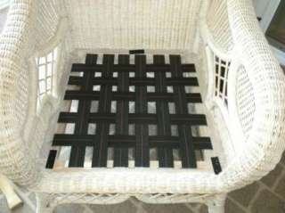 DANISH MODERN CHAIR/SOFA BLACK ELASTIC WEBBING LARGE FURNITURE REPAIR