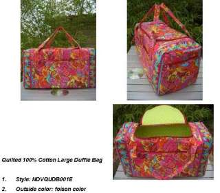 quality 100% cotton large duffle bags from Chinese factory directly