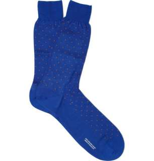 Socks  Casual socks  Merino Wool Blend Polka Dot Socks