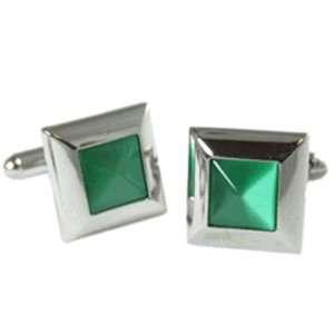 Great Green Cat Eye Cufflinks Jewelry