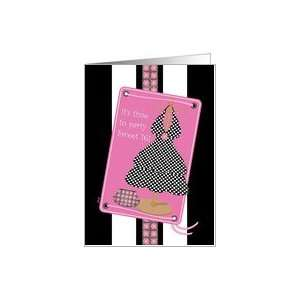 Sweet 16 Party Invitation Dress Pink Black Card: Toys