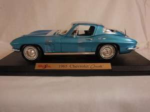 1965 Chevrolet Corvette Coupe   Metal Die Cast 1/18 Scale Model Car