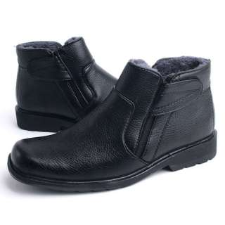Premium Faux Leather Fur Waterproof Snow Winter Working Mens Boots