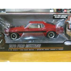1970 Ford Mustang SCJ428 Custom Red Diecast 118 Scale