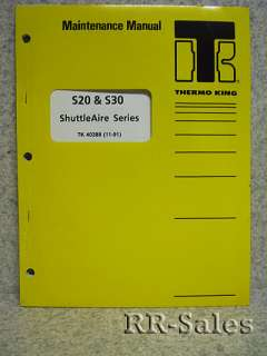 Thermo King S20+ ShuttleAire Series Maintenance Manual