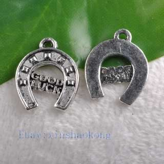 FREE SHIP 100pcs Beautiful Tibetan Silver Good Luck Charms KP7620 17mm