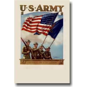 U.S. Army   Guardian of the Colors   Vintage Reprint