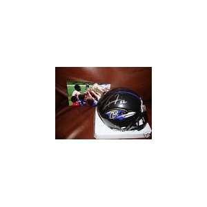 Baltimore Ravens RAY Lewis Signed Autographed Mini Helmet