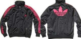 Womens Adidas Originals Adi Firebird Track Top Jacket XL Black Pink