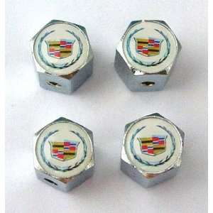 Cadillac Anti theft Car Wheel Tire Valve Stem Caps
