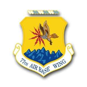 US Air Force 77th Air Base Wing Decal Sticker 3.8 6 Pack