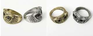 Cute Fashion Vintage Retro Style Vivid Owl Eyes Shape Ring Hot Gift A8