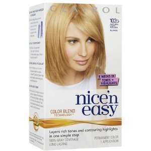 Clairol Nice n Easy Hair Color, Natural Light Golden Blonde (102G