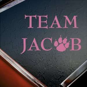 Twilight Team Jacob Pink Decal Car Truck Window Pink
