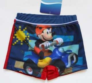 NWT Boy Mickey Mouse Swimsuit Trunks Costume 1 8Y Swimwear Kids
