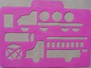 Stencil Trucks Firetruck Kids Craft Paint Color Ink