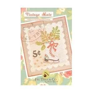Fig Tree Patterns Vintage Skate; 2 Items/Order: Arts, Crafts & Sewing