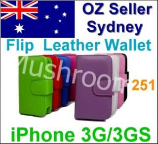251 Flip Leather Wallet case Pouch Cover iPhone 3G 3GS