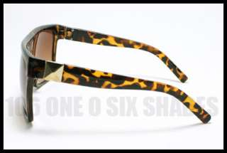 UNIQUE Mob Oversized Sunglasses Sunglasses Square Flat Top TORTOISE