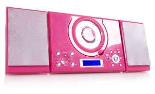 Musikcenter Stereoanlage CD Player rosa Kinder Musikanlage Denver MC