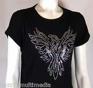 Phoenix Rising, rhinestone shirt, native american, tee