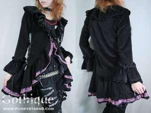 Japan Kera Punk Spider Web Lace Goth Ruffle Shirt JKT