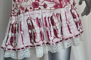 GUCCI Floral&Whale SILK+EMBROIDERY+LACE Jacket/Blouse+Ruffle Skirt