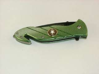 ARMY SPRING ASSISTED POCKET KNIFE RESCUE TOOL