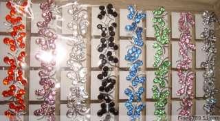 Wholesale 36Pairs Crystal Rhinestone Butterfly Earrings