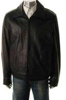 Tommy Hilfiger Mens Black Coat Leather Jacket XL