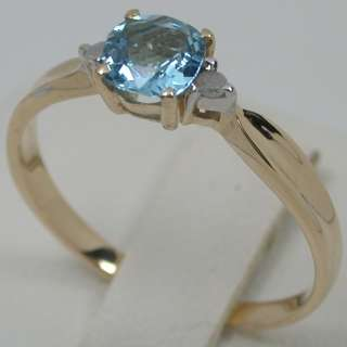 76 CARAT 14K SOLID YELLOW GOLD NATURAL SWISS BLUE TOPAZ SOLITAIRE